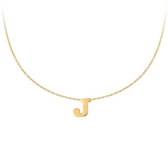 Personalized 14k Mini Initial Necklace -  PC111
