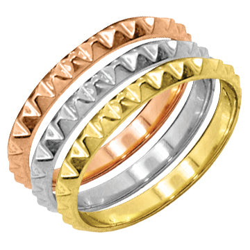 Pyramid Stackable Ring - R4384