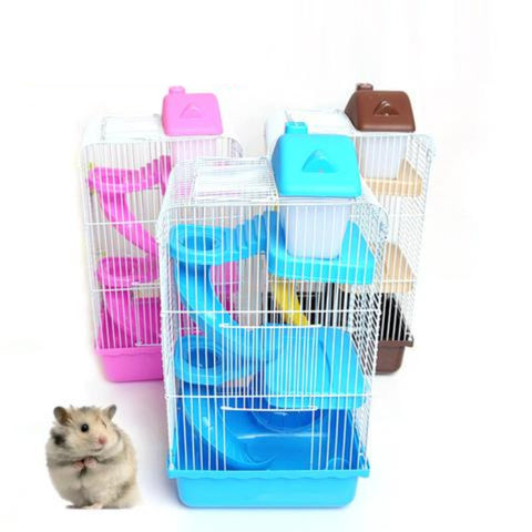 Small Pet three layers Deluxe Plastic Hamster Cage