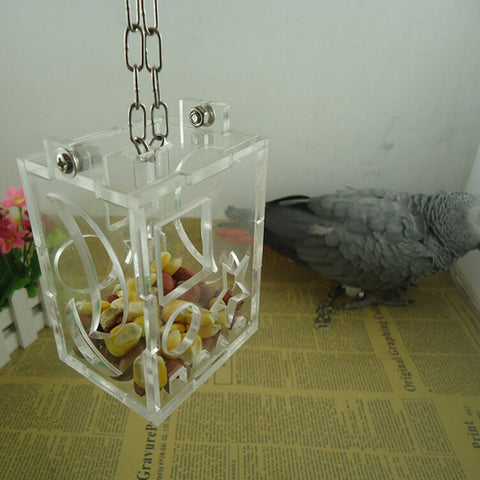 Parrot Bird Cage Feeder Hang Foraging Toys