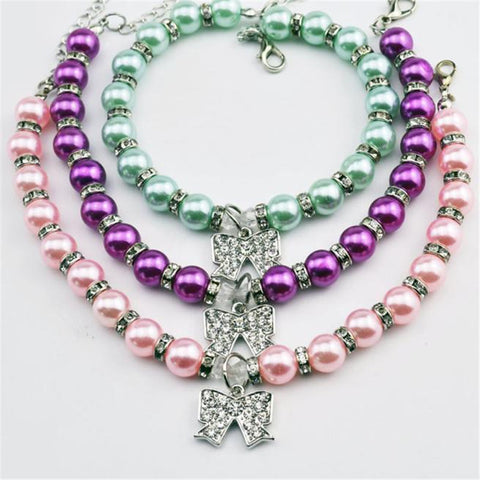 Fashion Diamante Butterfly Pendant Pet Necklace