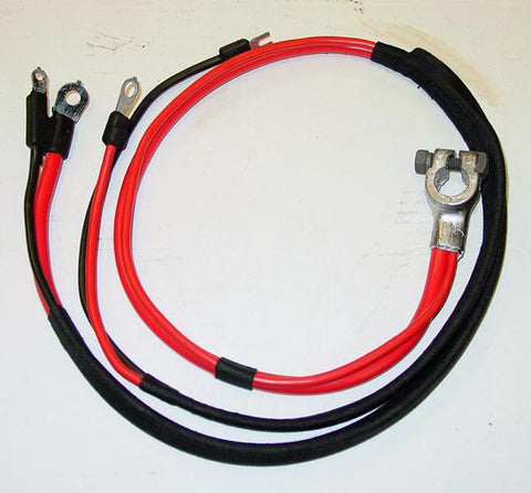 1969 Plymouth Roadrunner Positive Battery Cable Small Block (1 piece molded starter lug)