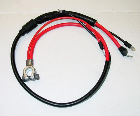 1968 Plymouth Valiant Positive Battery Cable Small Block (Split Starter Lug/Heat Sheath)