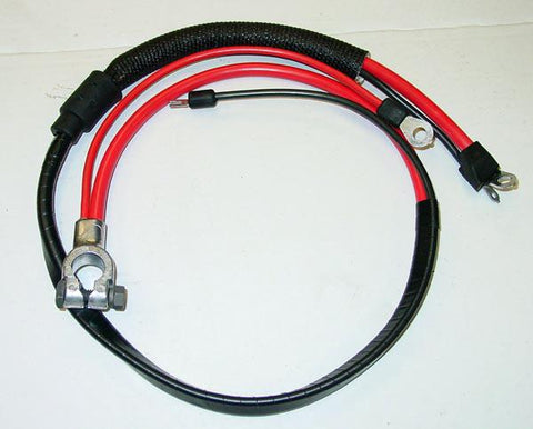 1969 Plymouth Valiant Positive Battery Cable Big Block (Split Starter Lug/Heat Sheath)