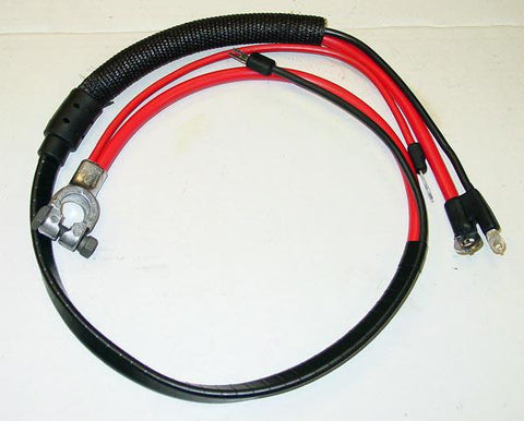 1969 Plymouth Barracuda Positive Battery Cable Small Block (Split Starter Lug/Heat Sheath)