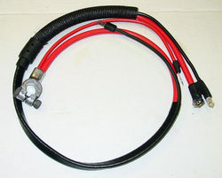 1972 Plymouth Valiant Positive Battery Cable Small Block (Split Starter Lug/Heat Sheath)