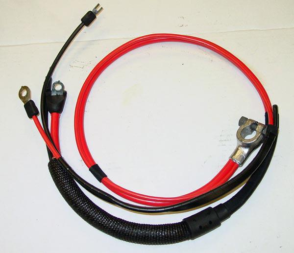 1966 Dodge Coronet Positive Battery Cable Small Block (split starter lug/heat sheath)