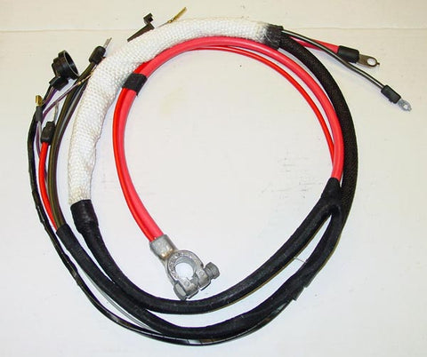 1969 Plymouth Satellite Positive Hemi Battery Cable A/T w/3 prong neutral saftey switch