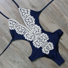 One Piece Sexy Lace Monokini - Ollamy