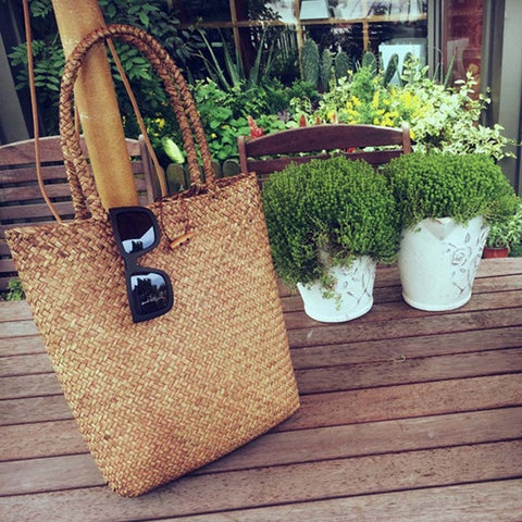 Straw Beach Bag - Ollamy