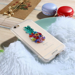 Pineapple Silicone Clear Phone Case - Ollamy