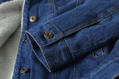 Winter Lambswool Denim Jacket - Ollamy