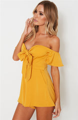 High Waist Strapless Rompers - Ollamy