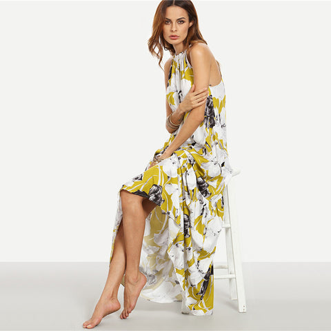 Floral Summer Maxi Dress - Ollamy