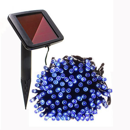 50 Blue Solar Christmas Lights - String