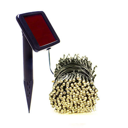 50 Warm White Solar Christmas Lights - Net