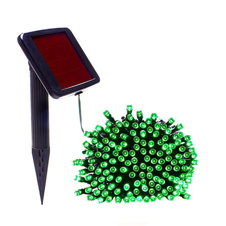 50 Green Solar Christmas Lights - String