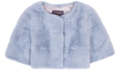 Sarah Mini Mink Fur Jacket Cielo