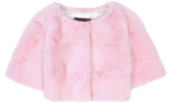 Sarah Mini Mink Fur Jacket Geranio