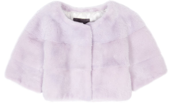 Sarah Mini Mink Fur Jacket Lavender