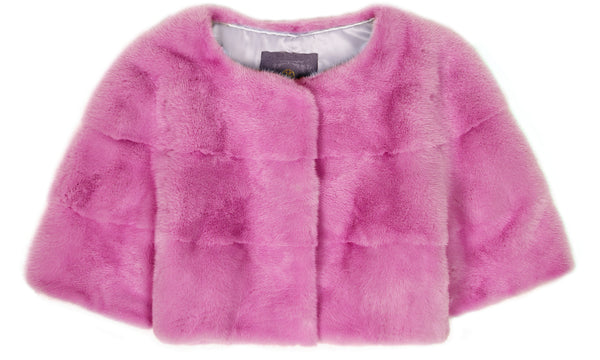 Sarah Mini Mink Fur Jacket Orchidea