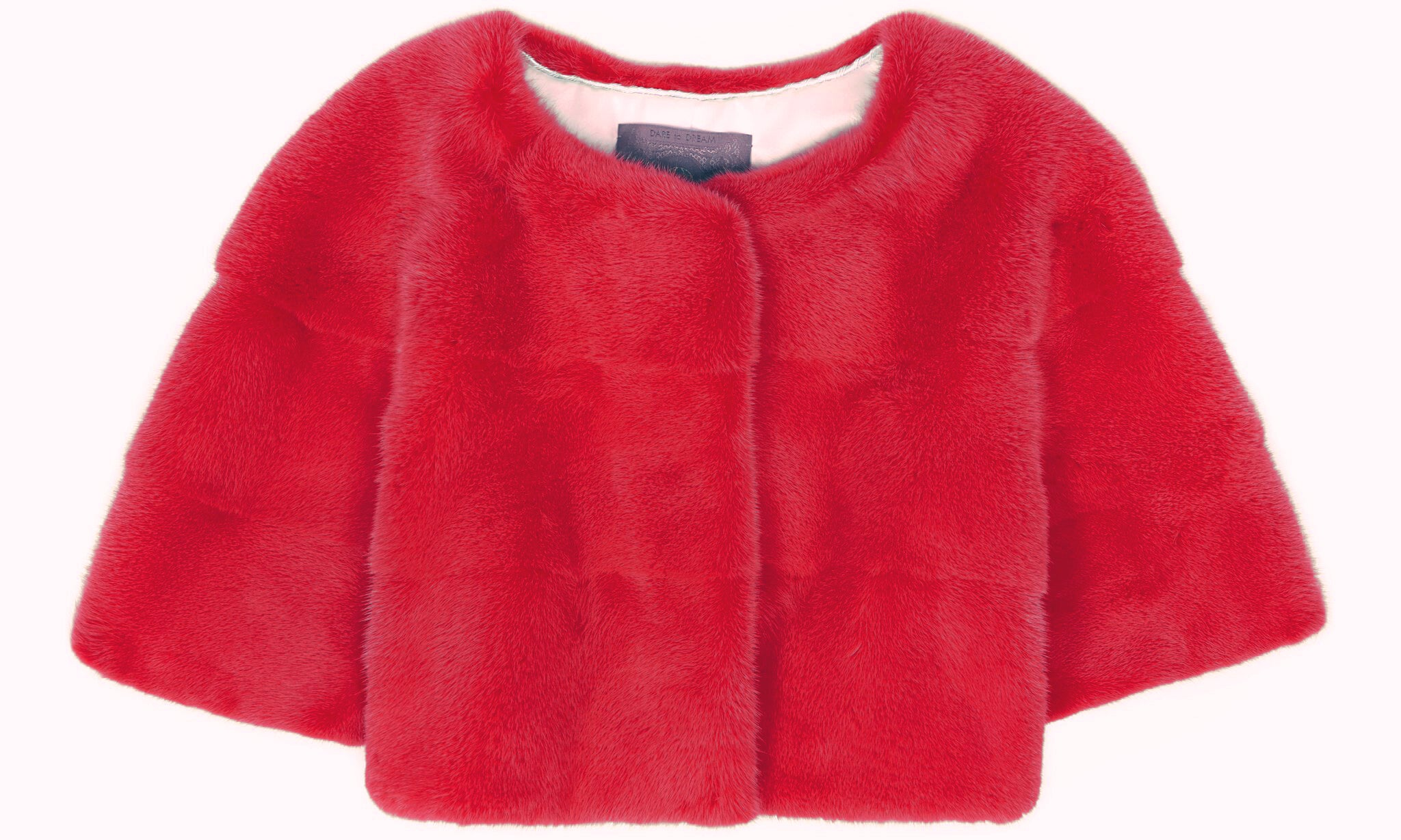 Sarah Mini Mink Fur Jacket Fuxia