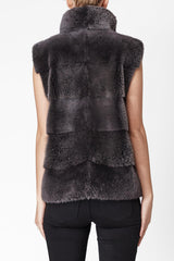 alice womens mink vest 60cm Anthracite 4