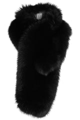 arabella womens fox fur scarf  Nero Fox