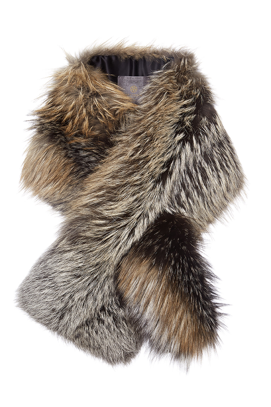 Arabella Cross Fox Fur Scarf Gold