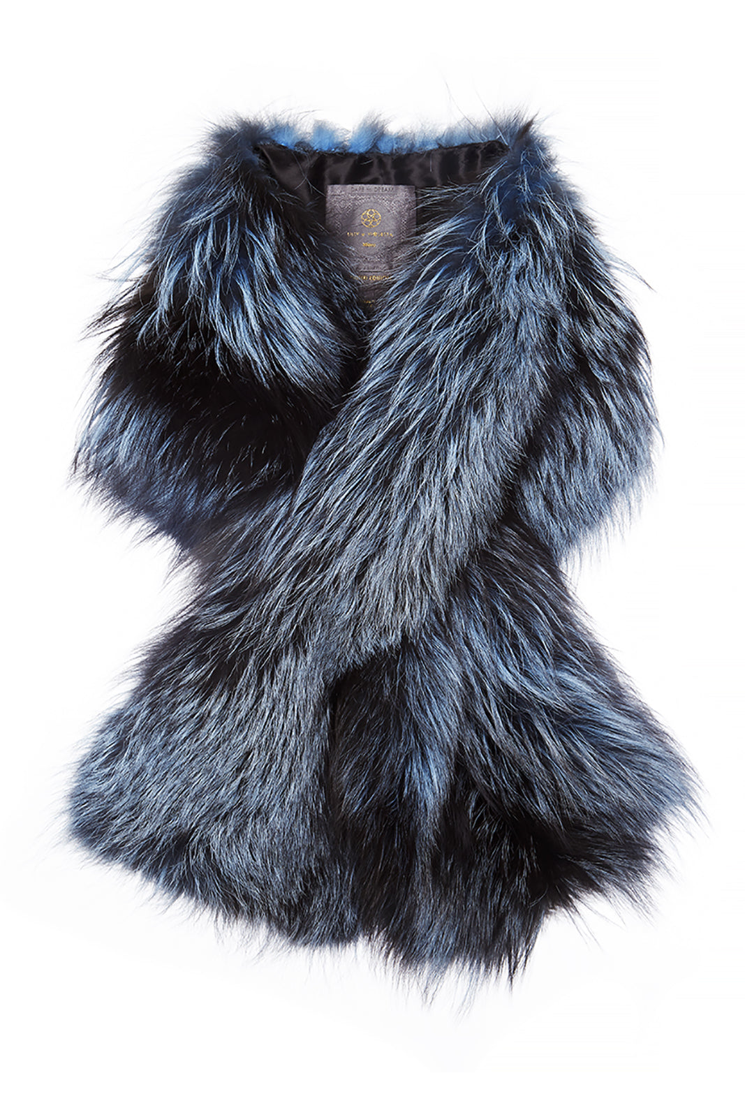Arabella Silver Fox Fur Scarf Baby Blue