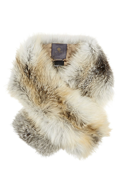 arabella womens silver fox fur scarf  Golden Icelandic Fox