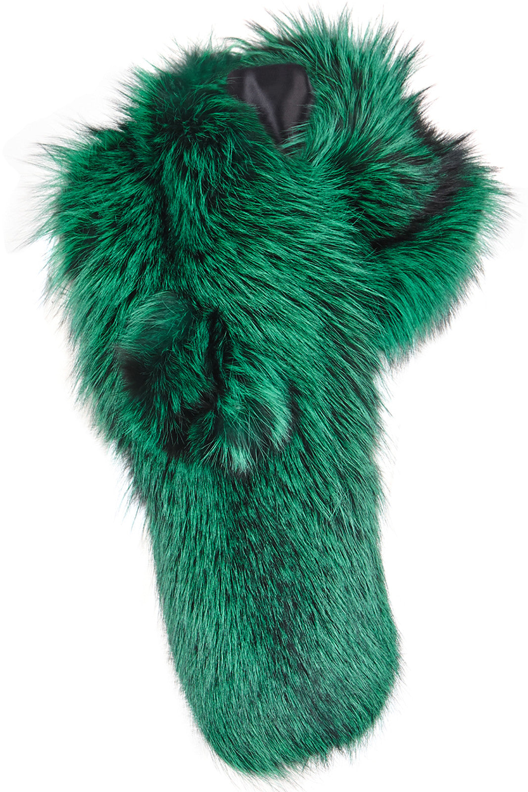 arabella womens silver fox fur scarf  Green Fox