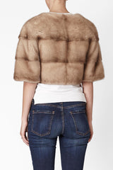 Sarah Mini Mink Fur Jacket Cammeo