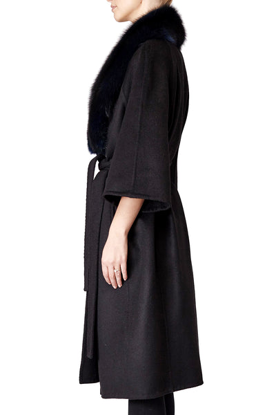 Cassandra Cashmere Coat With Fox Fur Collar