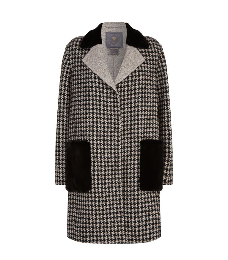 Celia Check Coat