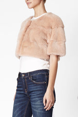 Sarah Mini Mink Fur Jacket Cipria