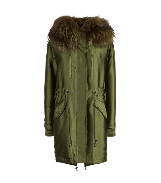 Fox Fur Trim Parka Performance Jacket