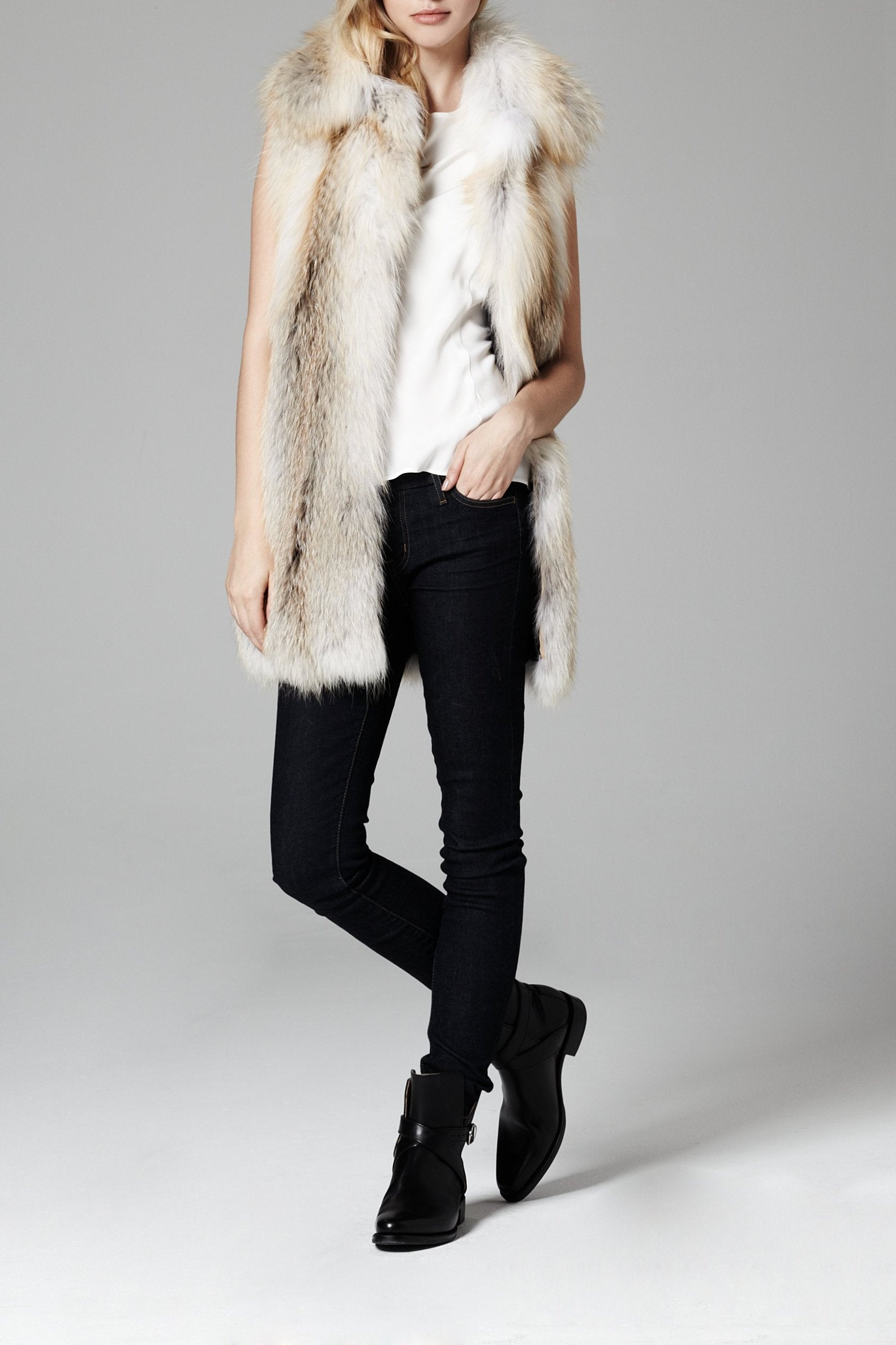 Barbara Fox Fur Vest