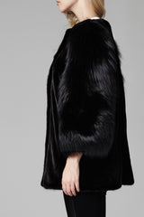 Gaga Women's Mink and Fox Fur Jacket