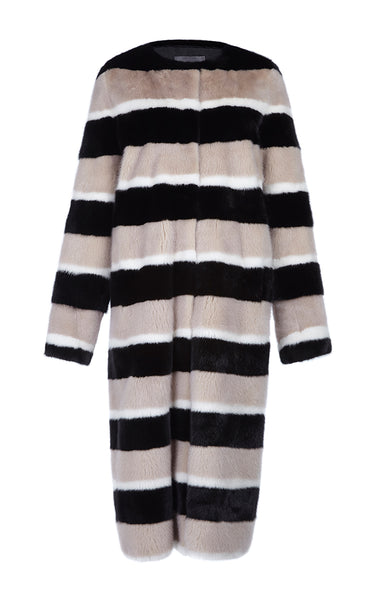 Marilena Long Multi Mink Fur Coat