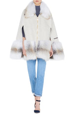 Ada Cashmere and Fox Fur Cape