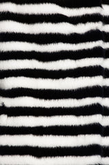 marilena womens mink coat Bianco & Nero Stripes 4