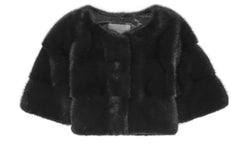 Sarah Mini Mink Fur Jacket Nero
