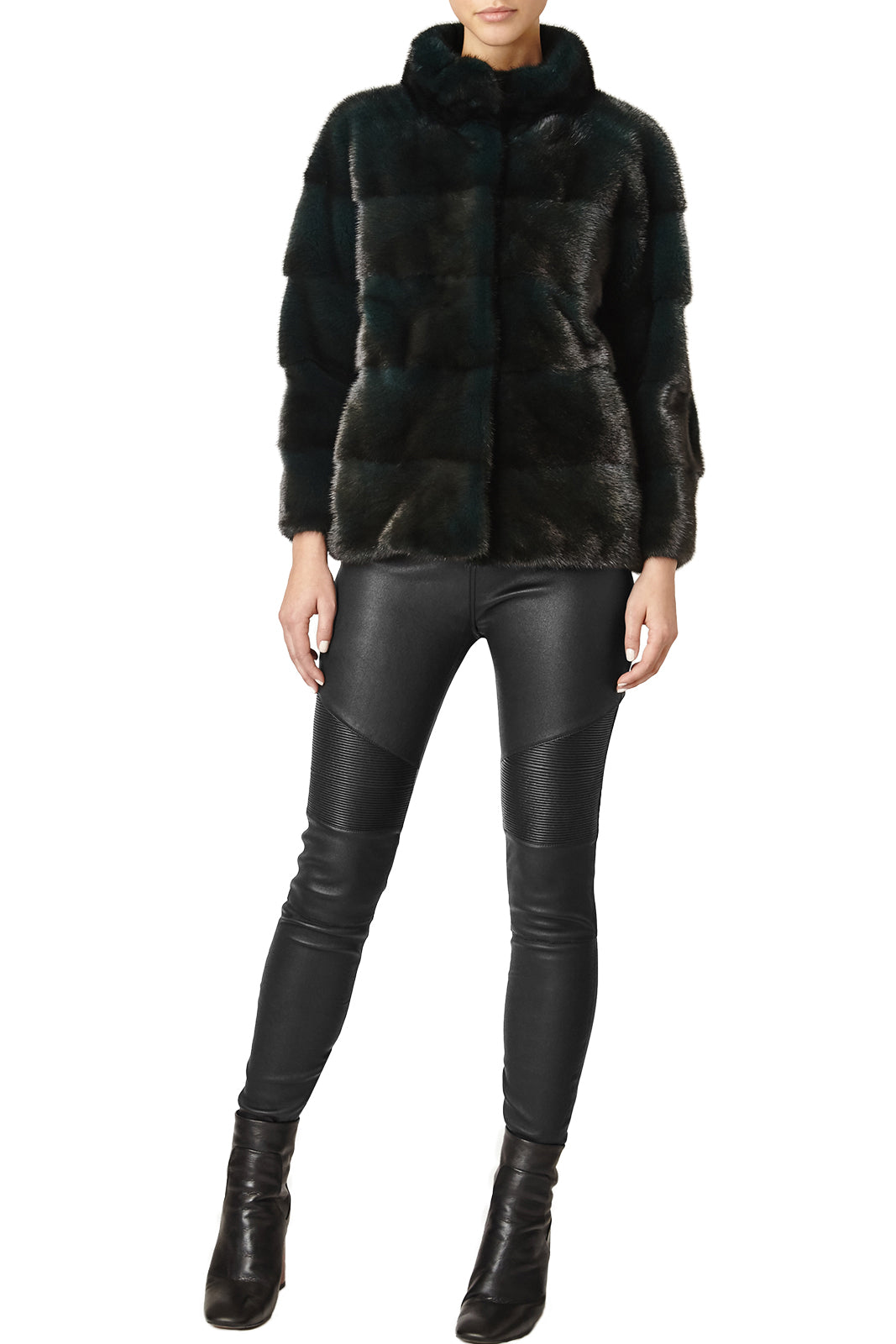 rosie womens mink jacket with collar Foresta 2