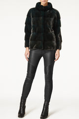 Rosie Mink Fur Jacket With Collar