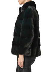 rosie womens mink jacket with collar Foresta 3