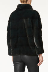 rosie womens mink jacket with collar Foresta 4