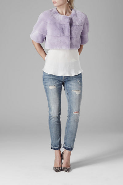 Sarah Mini Mink Fur Jacket Violetta
