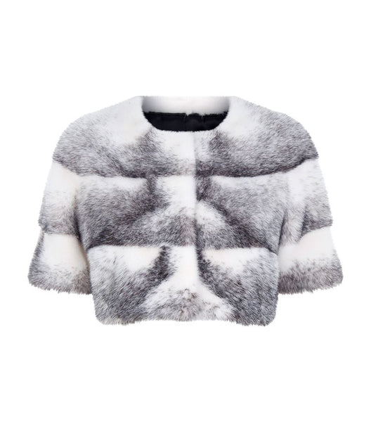 Sarah Mini Mink Fur Jacket Cross Mink