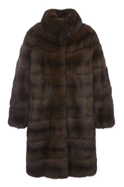 theresa womens sable coat Mahogany Sable 5